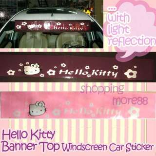Hello Kitty Banner Top Windscreen Car Decal Sticker p2