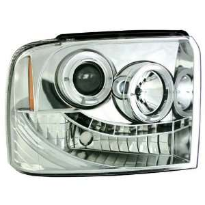 Ford Super Duty 2005 2006 2007 Head Lamps, Projector Chrome Housing