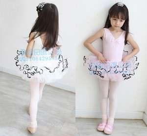 New Girls Party Leotard Ballet Costume Tutu Skirt Dance Skate Dress 5