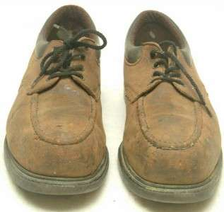 Vtg USA Made Red Wing Brown Leather Steel Toe Lacer Work Shoes