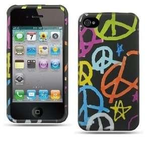 Apple Iphone 4, 4s Phone Protector Hard Cover Rainbow
