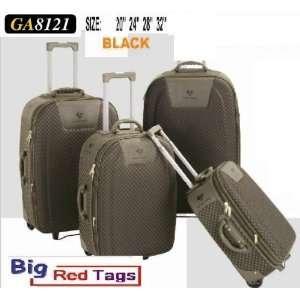 BLACK Rolling Travel Luggage Set 4 pc duffel bag