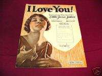 1923 I LOVE YOU LITTLE JESSE JAMES PIANO SHEET MUSIC