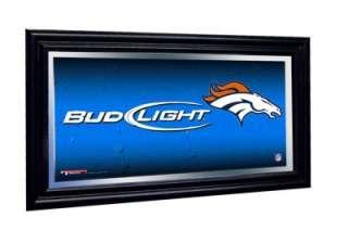 Denver Broncos Bud Light Beer NFL Framed Mirror