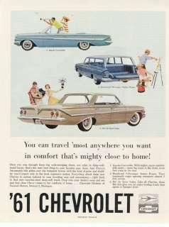 CHEVROLET CAR AD Impala   Bel Air   Station Wagon 1961