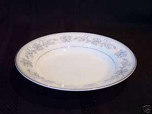 Mikasa Dresden Rose Rim Soup Bowl, Fine China Dinnerware Blue/Pink ...