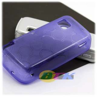 Purple TPU Silicone Gel Case Cover Nokia 5230 Nuron