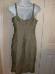 Benetton Green Herringbone Sleeveless Dress, S   EUC