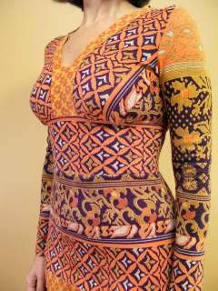 60s MIXED PRINTS Tribal BLOCK Hippie Glam BOHO India Maxi DRESS XXS XS