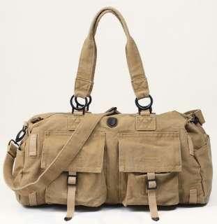 Duffle Travel Bag Luggage Gym Sports Bag Tote Khaki #53B1