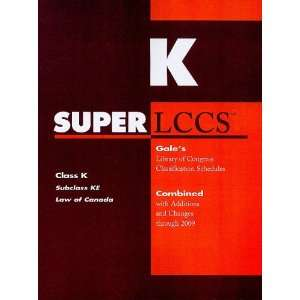 SUPERLCCS 09: Schedule KE (SUPERLCCS: Schedule Ke Law of Canada