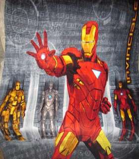 New IronMan Iron Man 2 Plush Fleece Blanket Invincible