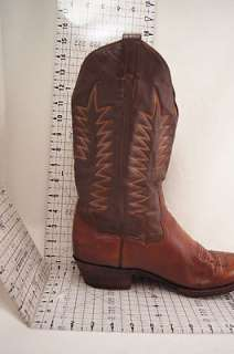 Sanders Brown Leather 10.5 D Mens Western Boots
