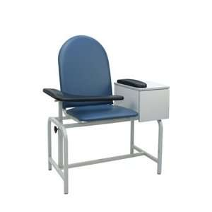 Blood Drawing Chair Padded Vinyl Seat with Drawer Health