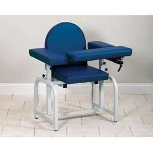 Blood drawing chair with flip arms
