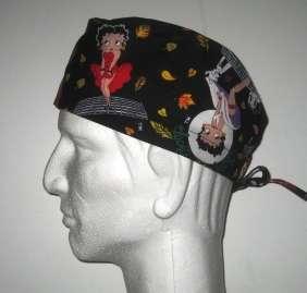 Cartoon Betty Boop as Marilyn Monroe Scrub Hat