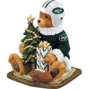 New York Jets NFL Football Bear Figurine Sports