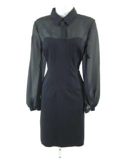NWT RICKIE FREEMAN TERI JON Blk Collared Dress 8 $370