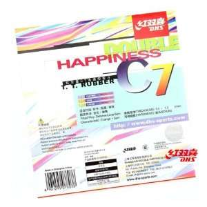 (Out) Table Tennis Rubber, Double Happiness (DHS)