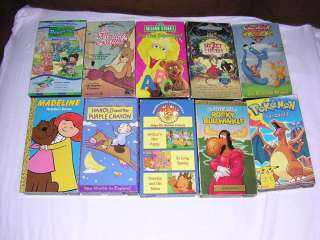 Mixed Lot of 10 Childrens VHS Videos Kids Movies