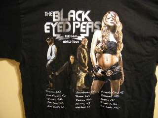 Black Eyed Peas END World Tour Sz L Mens T Shirt NICE