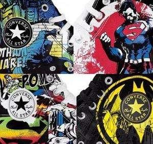 STAR CHUCK TAYLOR DC COMICS   SUPERMAN BATMAN SHOES   4 Models