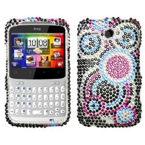 Bubble Crystal Bling Hard Case Phone Cover HTC Status