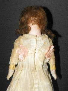 Antique German or French Bisque Doll KID Body ORIGINAL Clothes CIRCLE