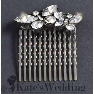 Bridal Wedding Side Comb Double Butterfly Rhinestone Crystal Bridal