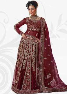 Ethnic Bollywood Indian Party Wear Bridal Heavy Embroidered Lehenga