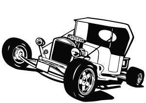 Ford T Bucket Hot Rod Custom V8 Decal Sticker