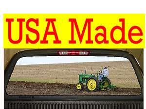 Tractor Rear Window Decal Sticker Tint fits ford chevy dodge toyota