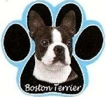 Bossy BOSTON TERRIER Dog on Paw Shaped Computer MOUSE PAD 608938514356