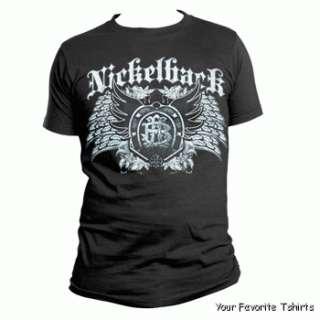 Licensed Nickelback Dark Wings Adult Shirt S 3XL