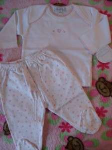 NWT *Kissy Kissy* Pink Hearts Baby Girl Layette Outfit PREEMIE ~ SOLD