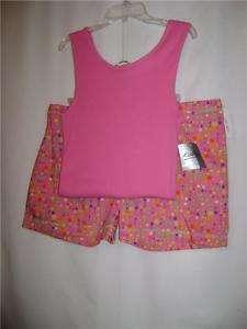 Ladies Boxer Shorts+Tank Top Pajamas Kathryn L NWT