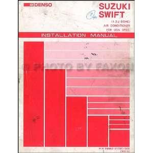 Suzuki Swift GTi DOHC A/C Installation Manual Original Suzuki Books