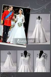 Elegant Sweetheart Satin Lace Wedding Dress Bridal Gown Custom made