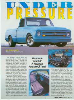 On 1967 CHEVY SHORT BED PICKUP WITH 454 RAT MOTOR  Racing,