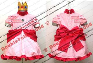 Kid Super Mario Bros Princess Peach Cosplay Costume