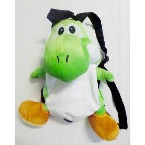 Nintendo Super Mario Yoshi GREEN Plush Backpack