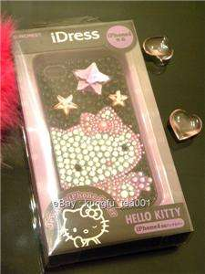 Hello Kitty in Black Bling Rhinestone iPhone 4 Case NEW