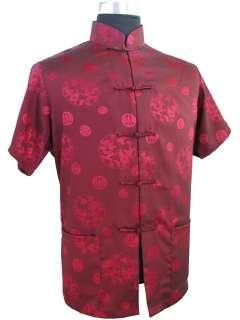 2010 NEW Black Summer Mens Satin Shirt M L XL XXL XXXL