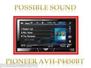 P4450BT Car stereo TFT 7/USB/iPod/ iPhone/AUX In/BT DVD player