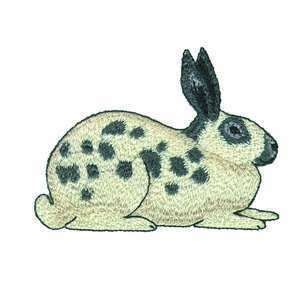 English Spot Bunny Rabbit Hare Embroidered Iron On Patch or Applique