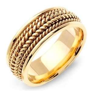 BAKCHOS 14K Yellow Gold Braided Wedding Band Ring Jewelry
