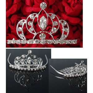 Bridal Flower Girl Prom Party Crystal Tiara Comb T14 Beauty