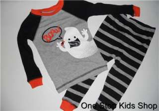 HALLOWEEN Boys 18 Months PAJAMAS Pjs Set Shirt GHOST
