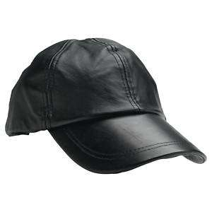 Solid Genuine Leather Baseball Cap one size fits all