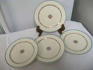 Lot 4 Older EDWIN M KNOWLES Semi Vitreous SALAD PLATES